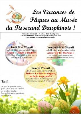 les vacances de pâques au Musée du Tisserand 2017