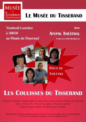 Affiche pièce de théâtre Musée du Tisserand
